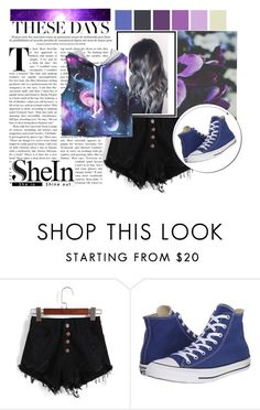 """""""Galaxy"""" by mkelly1 ❤ liked on Polyvore featuring Converse, contest and galaxy"""