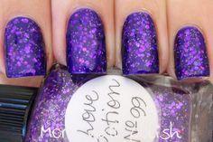 Lynderella Love Potion No 99 over Kleancolor Metallic Purple by More Nail Polish.