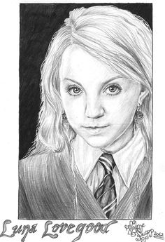 Luna Lovegood, also on my Harry Potter board!
