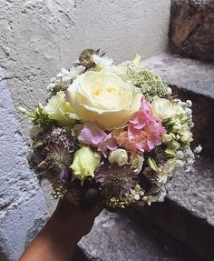 Bouquet rond, mariage Papyrus, Marie, Floral Wreath, Creations, Photos, Wreaths, Pastel, Instagram Design, Pictures