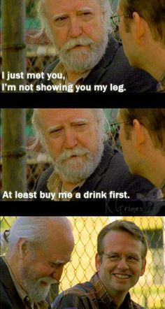 A very merry Hershel moment