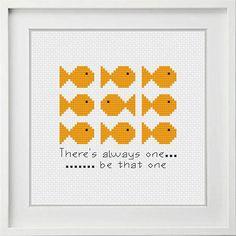 Cross Stitch Design Cross Stitch Pattern Be the One Quick Cross Stitch Modern Counted Cross Stitch Patterns, Cross Stitch Designs, Cross Stitch Embroidery, Hardanger Embroidery, Cross Stitch Quotes, Cross Stitch Animals, Learn Embroidery, Embroidery Patterns, Hand Embroidery
