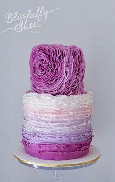 magenta lavender purple wedding cakes - Google Search