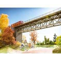 Laser-Cut Stahlbrücke Spur H0 für die Modelleisenbahn, 37,2 cm lang