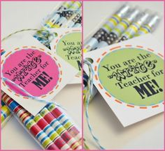 back to school printable - tag for first day of school teacher gift