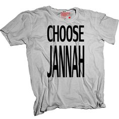 Only one place, the motivation for sll muslims! Jannah = paradise. T-shirt available from www.inspiredbyislam.com only £15 Fashion Men, Hijab Fashion, Design Kaos, Super Quotes, I Dress, Muslim, Shirt Style, Islamic, Vectors