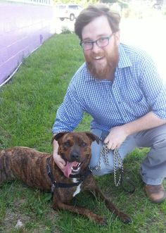 Our very special adoption to Vermont…NINA, our gorgeous brindle bomb-proof girl has arrived and she and her daddy are over the moon…she also has a mommy who runs marathons and she will be her training partner, WOO-HOO. Thanks to all….It took a village but we did it! 6/7/14