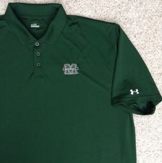 DRY-FIT Under-Armour MARSHALL UNIVERSITY POLO T-SHIRT Golf Short-Sleeve MENS XXL #UnderArmour #MarshallThunderingHerd