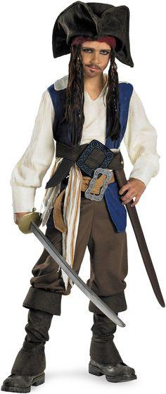 Pirates of the Caribbean 4 On Stranger Tides - Captain Jack Sparrow Child Costume