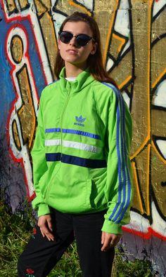 %SALE% Vintage Adidas 80s Trainingsanzug Tracksuit shiny Big Logo silber