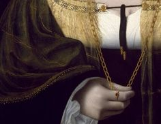 daughterofchaos: Bartolomeo Veneto, Portrait of a Lady, detail, early 16th century
