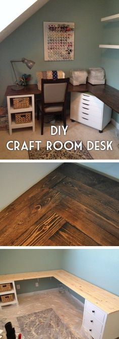 Check out the tutorial how to build an easy to assemble DIY craft room desk @istandarddesign
