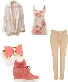 """peach ay fine"" by lilbratz-011 on Polyvore"