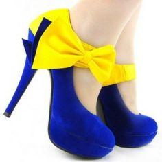 Yellow And Blue Heels | Tsaa Heel