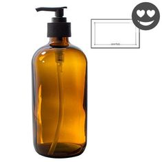 #greatdeal This package includes 1 -16 oz #Amber Glass Boston Round Pump Bottle with 1 exclusive bottle label. This bottle is ideal for home cleaning, cooking an...