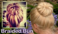 Learn how to do this braided updo hairstyle for everyday rolled bun for medium long hair.
