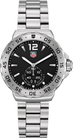 WAU1112.BA0858   NEW TAG HEUER FORMULA 1 MENS QUARTZ WATCH IN STOCK - Hassle free returns thru Jan 31st   - FREE Overnight Shipping | Lowest Price Guaranteed    - NO SALES TAX (Outside California) - WITH MANUFACTURER SERIAL NUMBERS - Black Dial- Date Feature - Battery Operated Quartz Movement- 3 Year Warranty- Guaranteed Authentic - Certificate of Authenticity- Scratch Resistant Sapphire Crystal- Brushed Steel Case