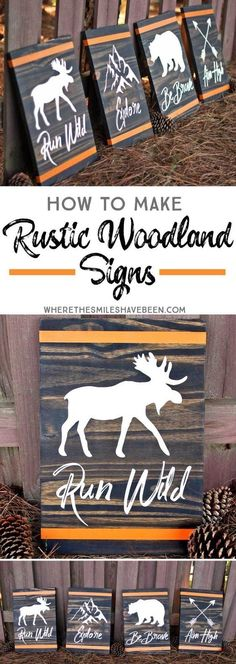 How to Make Rustic Woodland Signs | Where The Smiles Have Been #DIYHomeDecorationTips
