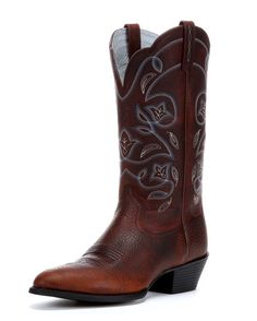 <p>The West is home, and these are its boots. They feature a classic R-toe for a spirited look steeped in Cowgirl country tradition. An elegant stitch pattern, dress rubber sole, and the comfortable ATS footbed make this a wonderful boot for a day, or night, on the town.</p>