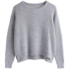 Listen Knit Sweater ❤ liked on Polyvore featuring tops, sweaters, jumpers, shirts, long sleeve sweater, knit sweater, cable knit jumper, long shirts and shirt sweater