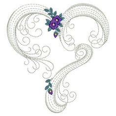 Perfect for your Valentine and wedding projects. Border Embroidery Designs, Cutwork Embroidery, Hand Embroidery Patterns, Applique Designs, Cross Stitch Embroidery, Modern Embroidery, Sewing Machine Embroidery, Machine Applique, Quilling Designs