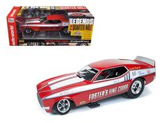1972 Foster\'s King Cobra Ford Mustang NHRA Funny Car 1/18 Model Car by Autoworld