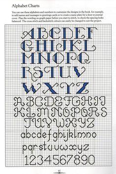 cross stitch alphabet by lana
