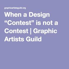 """When a Design """"Contest"""" is not a Contest 