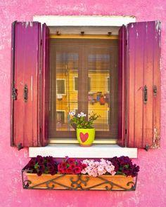 Pink shutters.
