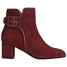 Buy L.K. Bennett Siara Block Heeled Ankle Boots, Mulberry Suede Online at johnlewis.com