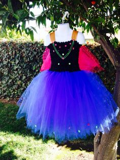 Anna Frozen tutu dress  by 2Twos on Etsy, $65.00