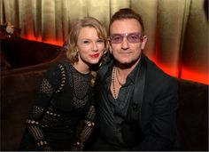 Taylor Swift e Bono - golden globes 2014 after party