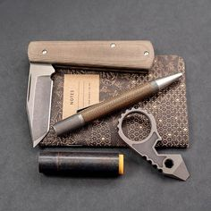 Did you know that Micarta has been around for over a hundred years? Trademarked by George Westinghouse Micarta is the perfect material for everyday use because it's impervious to extreme heat cold or moisture and will virtually outlast you. #anthonygriffin #anthonygriffincustomknives #kyleskustompens #g5bandicoot #g5bandicootcore #29thelement #kirikomade #grailknife #grailknives #customknife #customknives #knife #knives #pocketknife #edcknife #usnstagram #usnfollow #knifelife #knifeaddict…