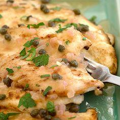 Lemon caper chicken. South beach diet.