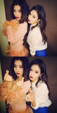 Former Wonder Girls members HyunA and Sunmi reunite on Instagram! | http://www.allkpop.com/article/2014/12/former-wonder-girls-members-hyuna-and-sunmi-reunite-on-instagram