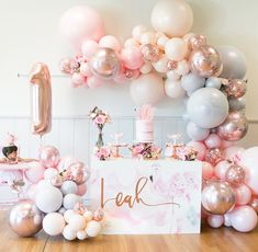 Pink Ballerina Birthday Party on Kara's Party Ideas 1 Year Old Birthday Party, Ballerina Birthday Parties, Baby Girl 1st Birthday, Birthday Ideas, Special Birthday, First Birthday Balloons, 40th Birthday, Birthday Celebration, Balloon Decorations