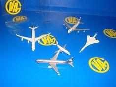 Lote de 5 aviones-metal-Aviones de metal a escala  observa las fotos