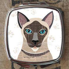 Siamese Cat Compact Mirror