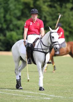 Prince Harry takes part in the Rundle Cup at Tidworth Polo Club on July 12, 2014 in Tidworth, England.