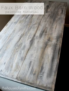 DIY barnyard wood.  Beat up new wood if desired, then add Olympic brand Weathered Barnboard stain. Don't wipe off, leave til dry. (15 min). Dry brush primer lightly over top.  Dry brush flat gray paint sporadically over top. Add a little black in paint and repeat. lightly sand. Coat with stain once more, seal and done!