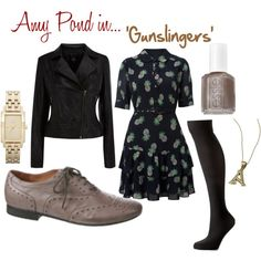 Doctor Who outfit; 'Amy Pond in 'Gunslingers',' created by drea538 on Polyvore.....im sorry i cant repost without thinking of Psych