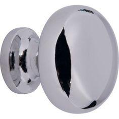 Round Door Knob - Polished Chrome - 30mm