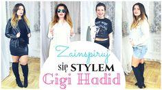"Z cyklu ""Zainspiruj się stylem""- stylizacje supermodelki Gigi Hadid:) Gigi Hadid, T Shirts For Women, Youtube, Tops, Fashion, Moda, Fashion Styles, Fashion Illustrations, Youtubers"