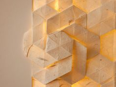 Folded paper with a nice play of light.