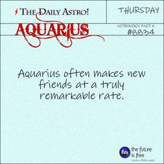 """Aquarius 8834: Visit The Daily Astro for more Aquarius facts.These are the most popular """"love horoscopes"""" on the Internet! :)"""