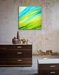 Luminance - 60x60 cm, Dipinto astratto originale, olio su tela, arte contemporanea