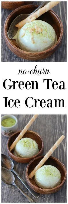 Japanese Green Tea Ice Cream on www.cookingwithruthie.com is a smooth and creamy…