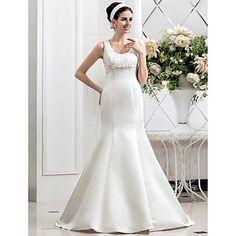 trompete / sereia colher tribunal trem vestido de noiva de renda – BRL R$ 349,86