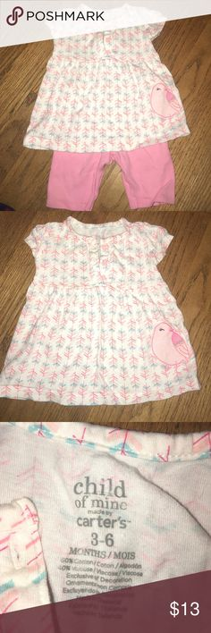 Carters Child of Mine Set Pink capris with a matching short sleeve shirt. Great condition. Carter's Matching Sets