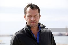 British actor James Purefoy poses during a photocall for the TV series 'Hap and Leonard' at the MIPCOM audiovisual trade fair in Cannes, southeastern France, on October 6, 2015. Held each year on the French Riviera, the audiovisual trade fair brings together the movers and shakers of the global entertainment business to network, talk shop and buy, sell and finance new content.